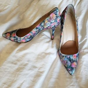 J Crew flower glitter pumps sz9 good condition